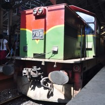 Our train engine of Colombo to Hatton train.
